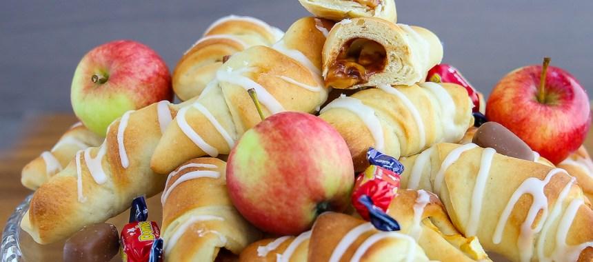 Gifflar med äpple och dumle