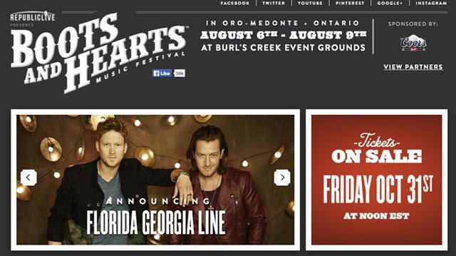Boots And Hearts Festival Is Leaving Clarington For Barrie