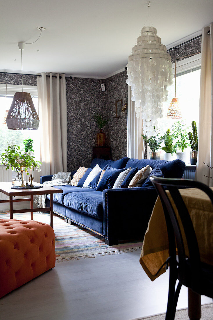 Dark Blue Sofa And Vintage Style Buy Image 12610864 Living4media