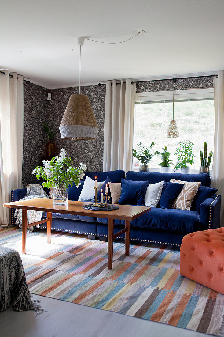 Dark Blue Sofa And Vintage Style Buy Image 12610868 Living4media