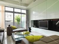 Designer Wohnzimmer mit Polsterliegen vor weissem ...