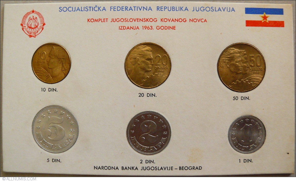 Mint Set Mint Set 1963 Km 36 41 Mint Sets Yugoslavia Coin 40760