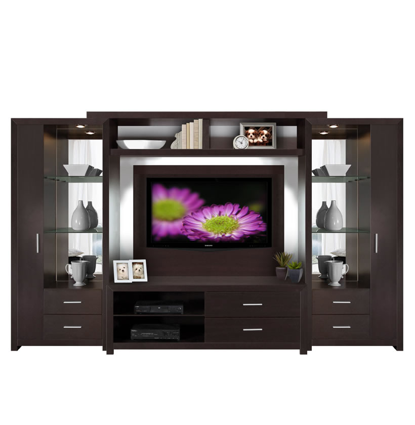 Bedroom Corner Storage Units Crystal Entertainment Center - Glass Shelves, Accent