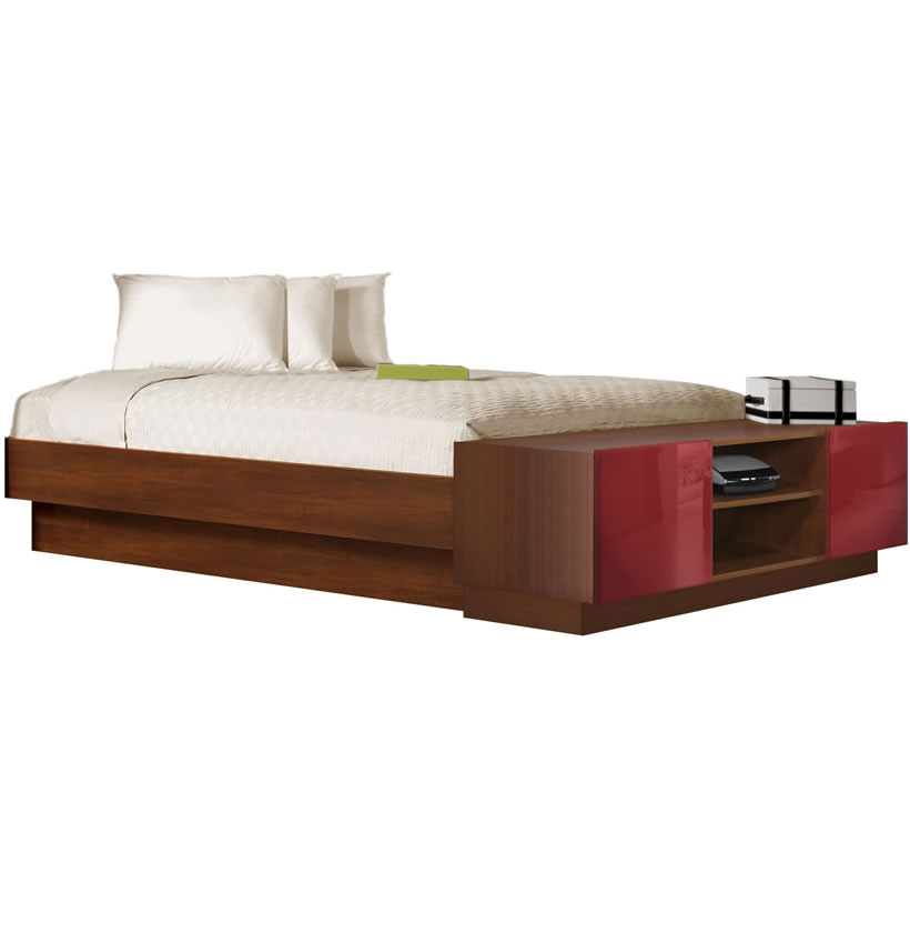 King Size Platform Bed With Storage King Size Platform Bed With Storage Footboard | Contempo Space