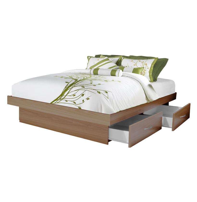 Platform Bed With Drawers Queen Platform Bed With 4 Drawers | Contempo Space
