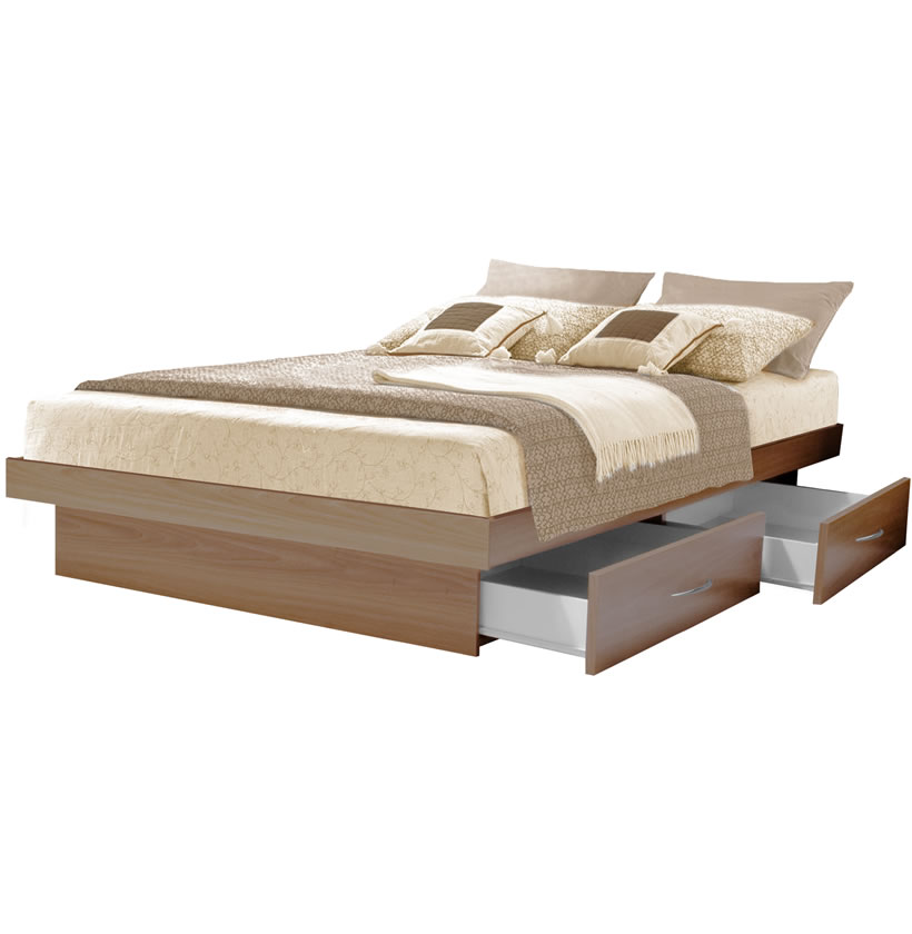 Platform Bed With Drawers King Platform Bed With 4 Drawers | Contempo Space