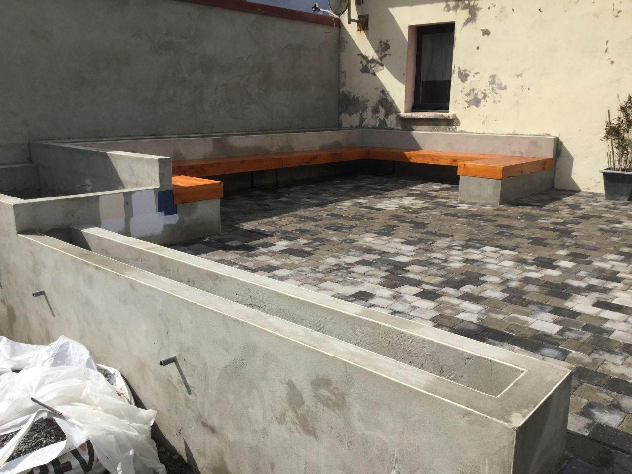 Idee jardiniere terrasse jardini re en bois carr e essencia 40 x 40 x 39 5 cm - Etancheite jardiniere beton ...