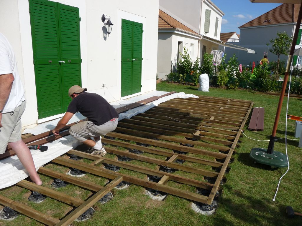 Pose De Lame De Terrasse Composite Terrasse Composite Sur Plot Pvc 6 Messages