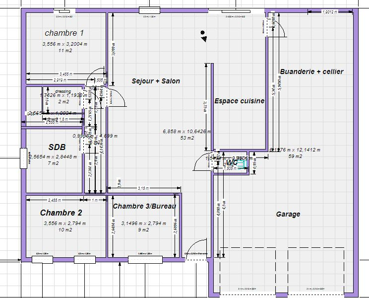 Plan maison plain pied 100m2 - votre avis - 87 messages - Construire Sa Maison Plan