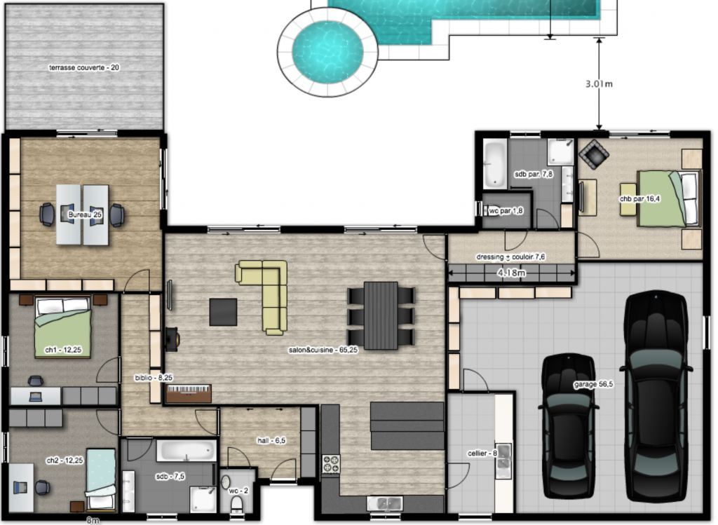 Plans De Maison Moderne Ide Plan Maison En Longueur Cool Auto