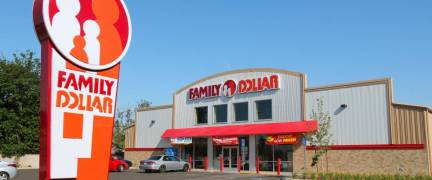 FRESNO, UNITED STATES - APRIL 12, 2014: Family Dollar store in Fresno, California. Family Dollar is a discount retailer with more than 8,000 locations in the US.