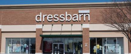 Trenton, NJ - April 1, 2019: This Dressbarn store is located at Hamilton Marketplace. Dressbarn is a part of the Ascena Retail Group.