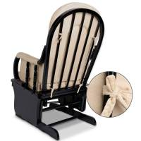 Breastfeeding Rocking Glider Chair w/ Ottoman Black | Buy ...