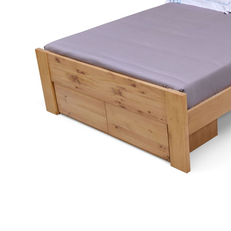 Houston Queen Bed Frame Natural Pine With 2 Drawers Buy