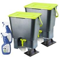 Maze Indoor Kitchen Composter x2 + 1L Bokashi Spray | Buy ...
