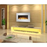 35 Inch White Wall Mounted Electric Fireplace 1500W | Buy ...