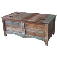 Angora Trunk Reclaimed Wood and Metal Coffee Table | Buy ...
