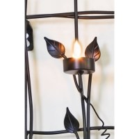 Wrought Iron Wall Art with 6 Candle Light Holders | Buy ...