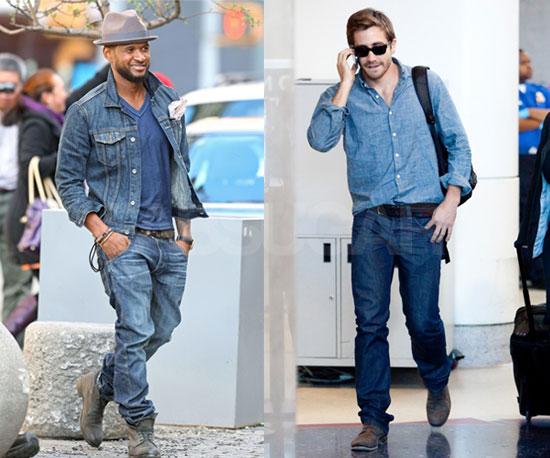 Usher And Jake Gyllenhaal Wear Denim On Denim Popsugar