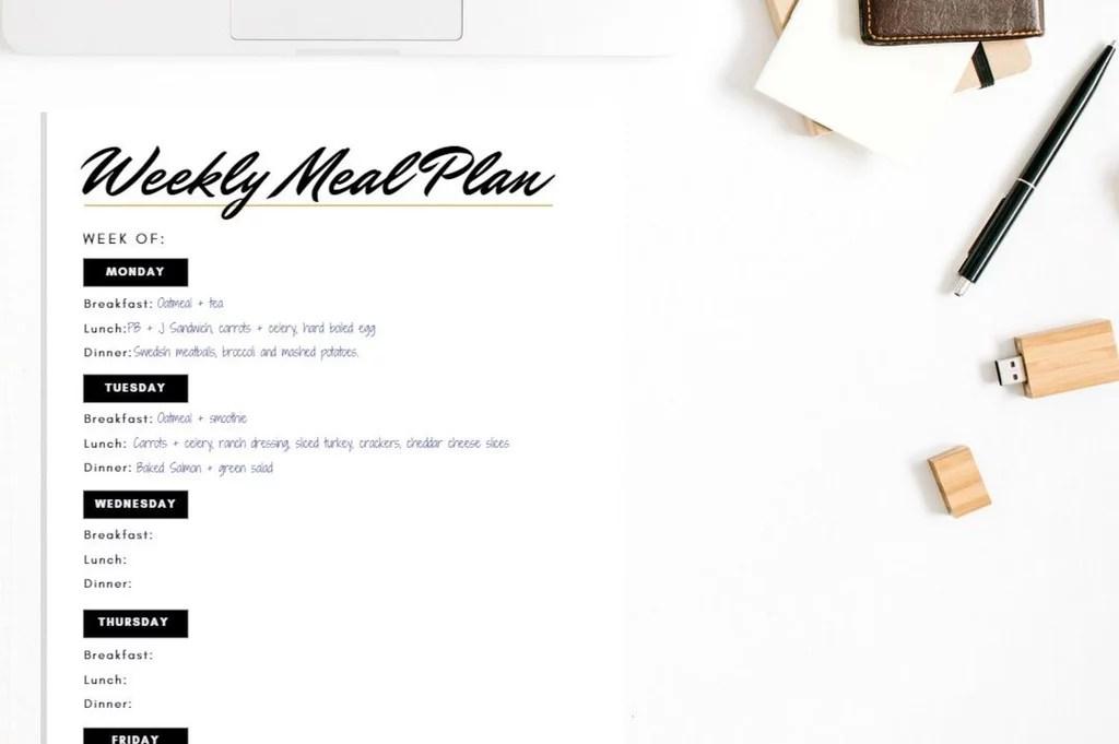 Printable Meal-Planning Sheets POPSUGAR Fitness
