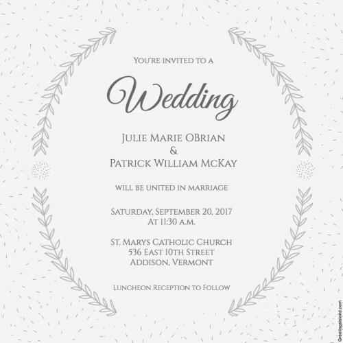 Medium Of Free Wedding Invitation Templates