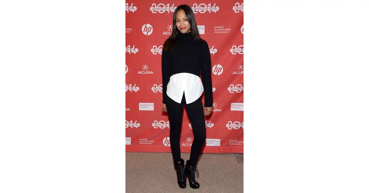 Zoe Saldana Sundance Film Festival Celebrity Style 2014