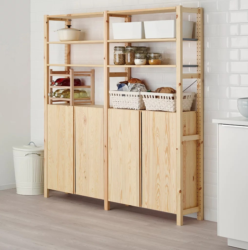Ikea.de Ivar Ivar 2 Section Shelving Unit With Cabinet Best Ikea Kitchen