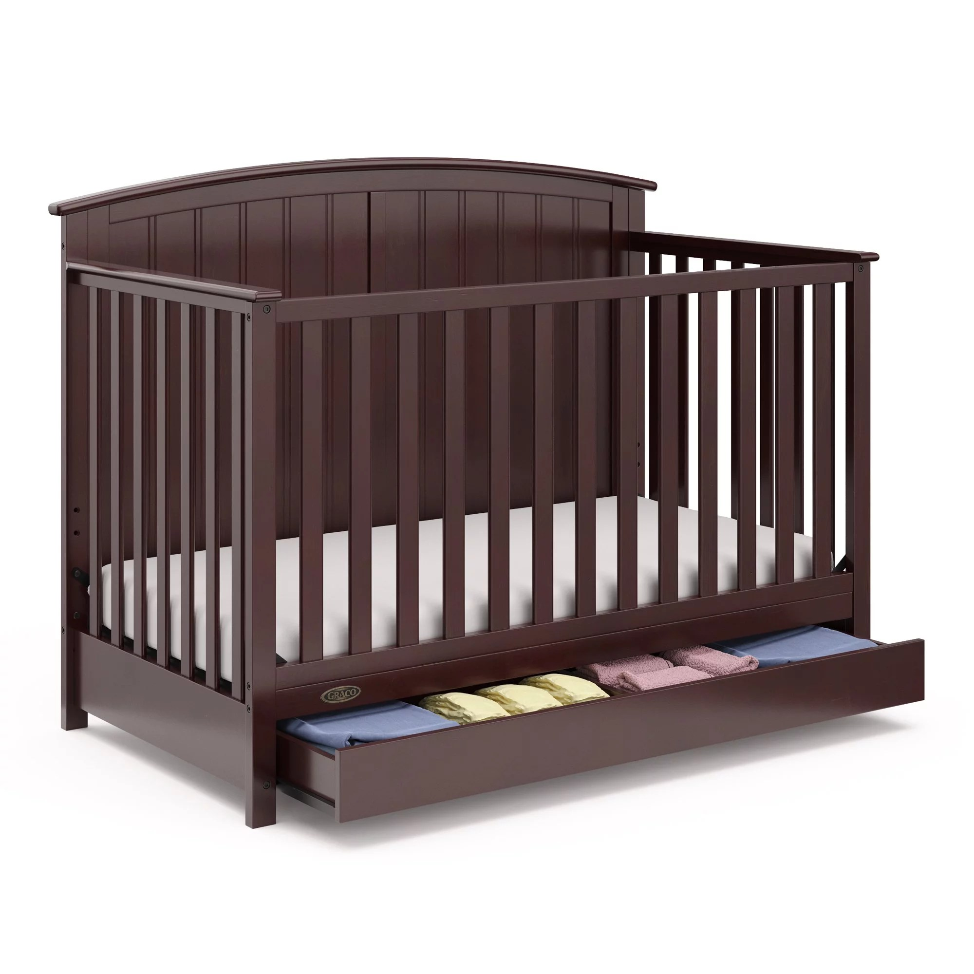 Baby Cradle Graco Graco Jasper 4 In 1 Convertible Crib With Drawer Walmart S