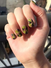 Camouflage Nail Art Design | POPSUGAR Beauty