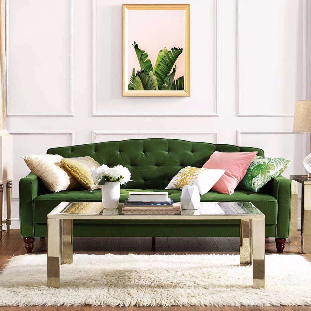 Sleeper Sofa Review Novogratz Vintage Tufted Sofa Sleeper Review Popsugar Home