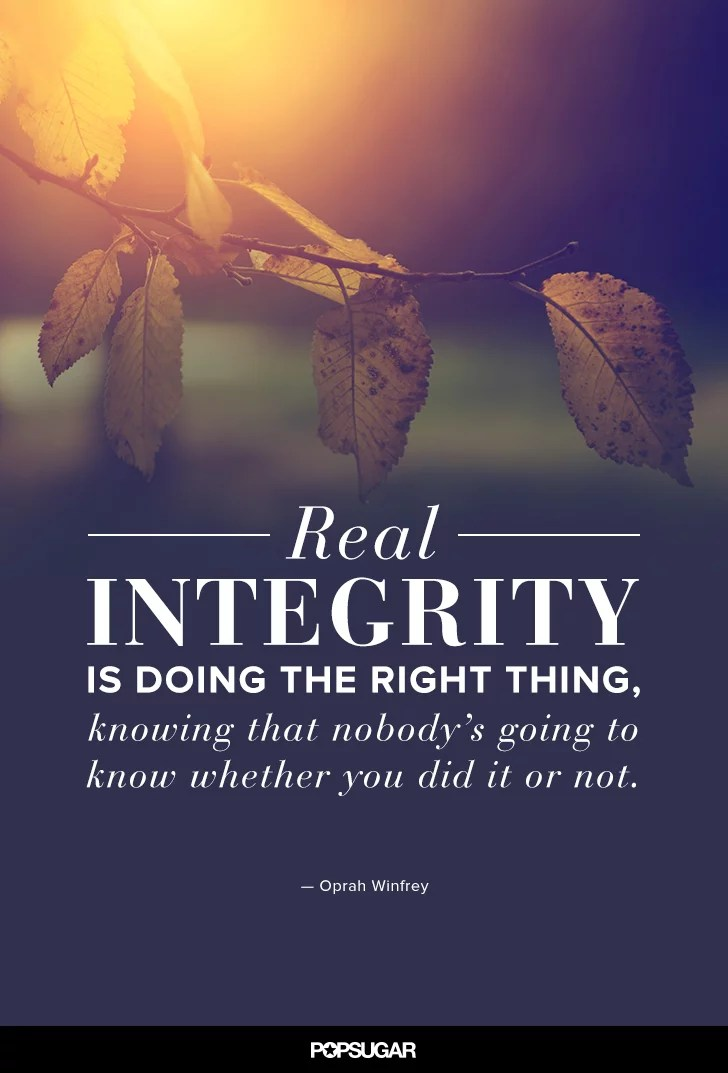 Lds Quote Wallpaper Quot Real Integrity Is Doing The Right Thing Knowing That
