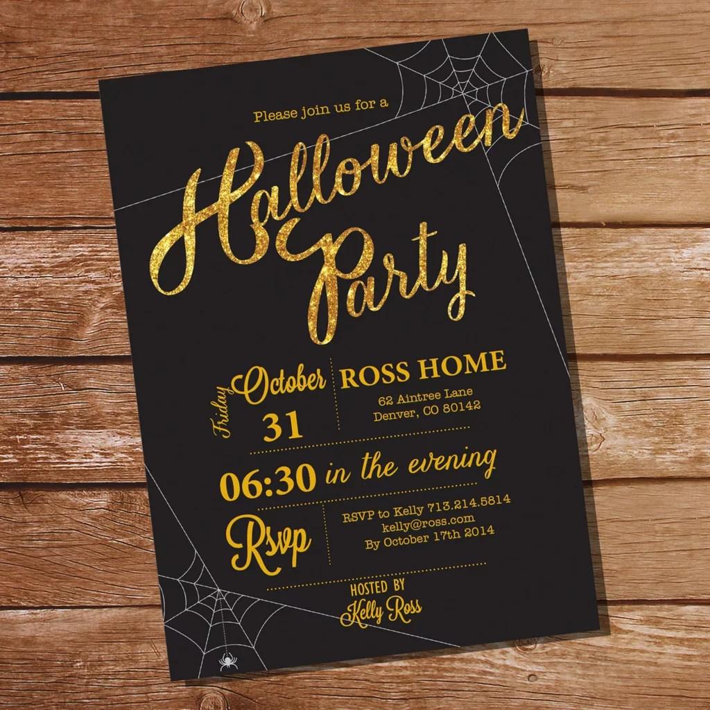 Fullsize Of Halloween Party Invitations