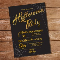 Small Crop Of Halloween Party Invitations