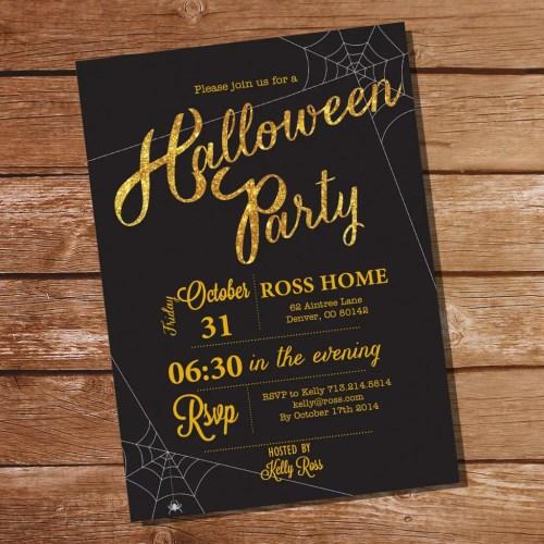 Medium Of Halloween Party Invitations