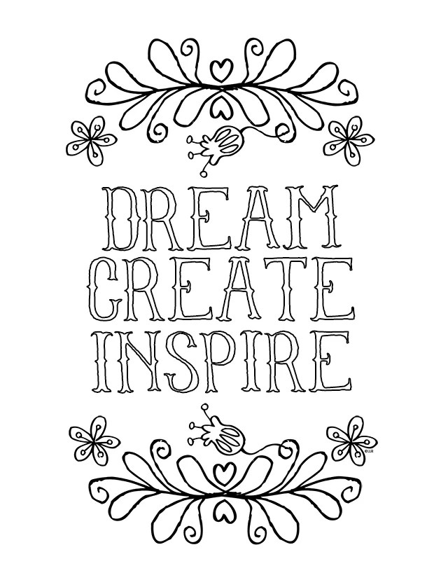 Sayings and Quotes Free Coloring Pages For Adults POPSUGAR Smart