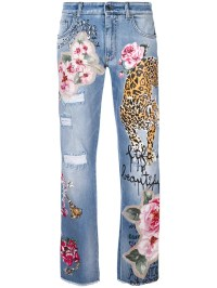Tiger Patch Denim Jeans by Dolce & Gabbana | Jeans With ...