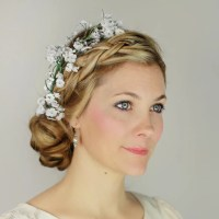 Plaited Updo With Fresh Flowers | Best Bridal Hair Ideas ...
