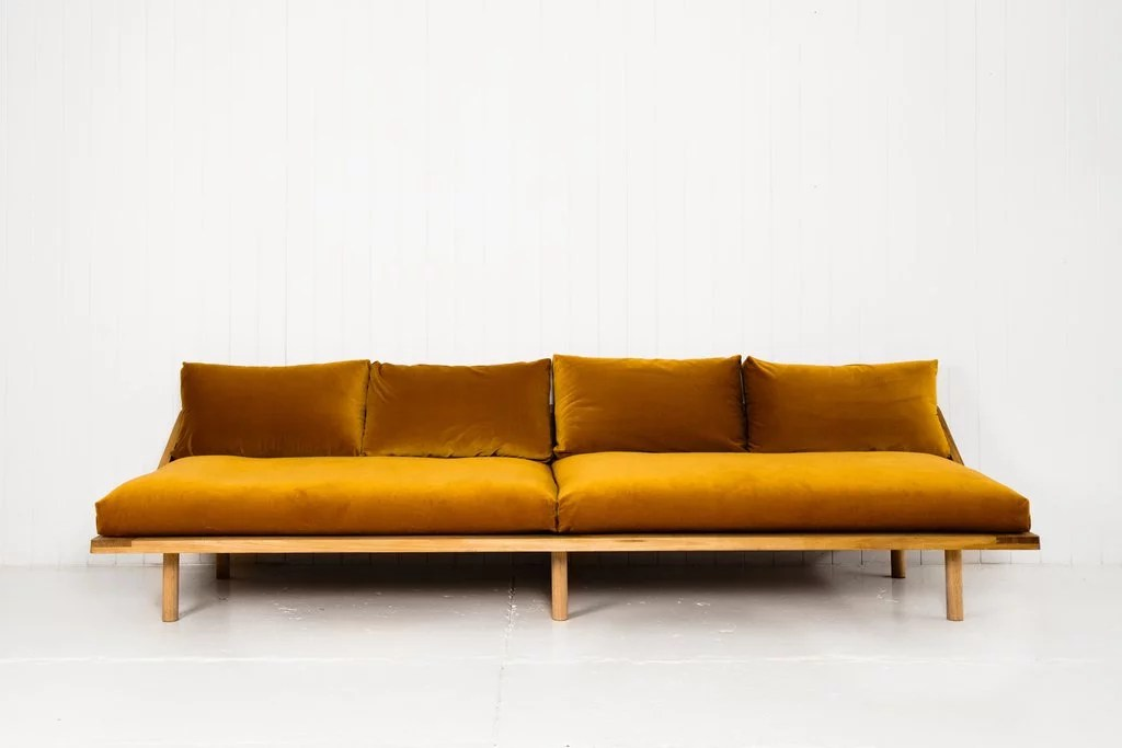 Couh P&s Dreamer Couch In Gold Velvet, $3,930 | Best Velvet