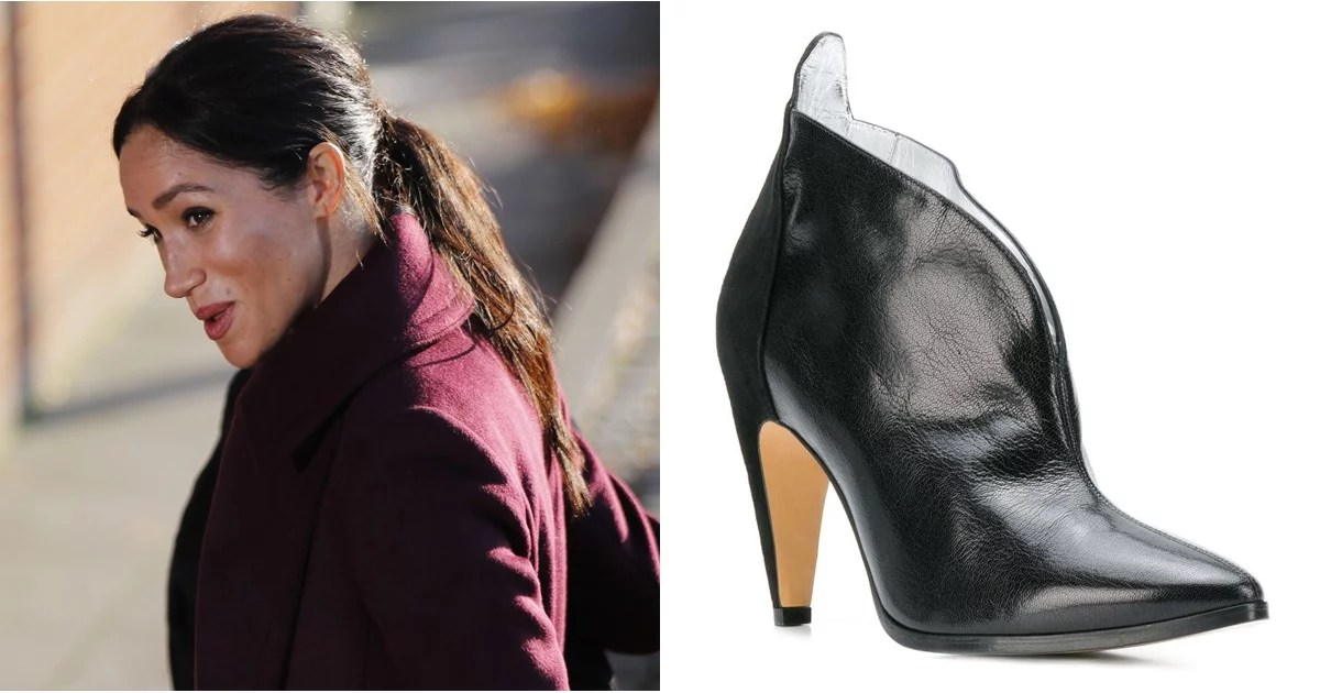 Meghan Markle Black Givenchy Ankle Boots Popsugar Fashion