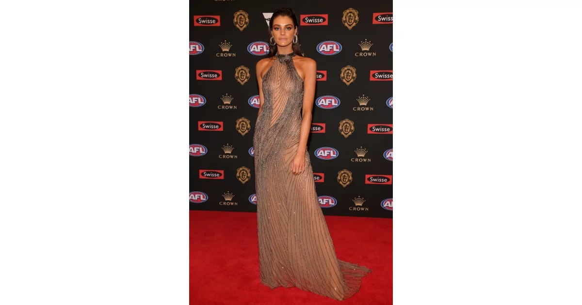 Charlotte Ennels Live 2018 Brownlow Medal Wags Red