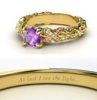 Amethyst Rapunzel Engagement Ring ($1,090) | Disney ...