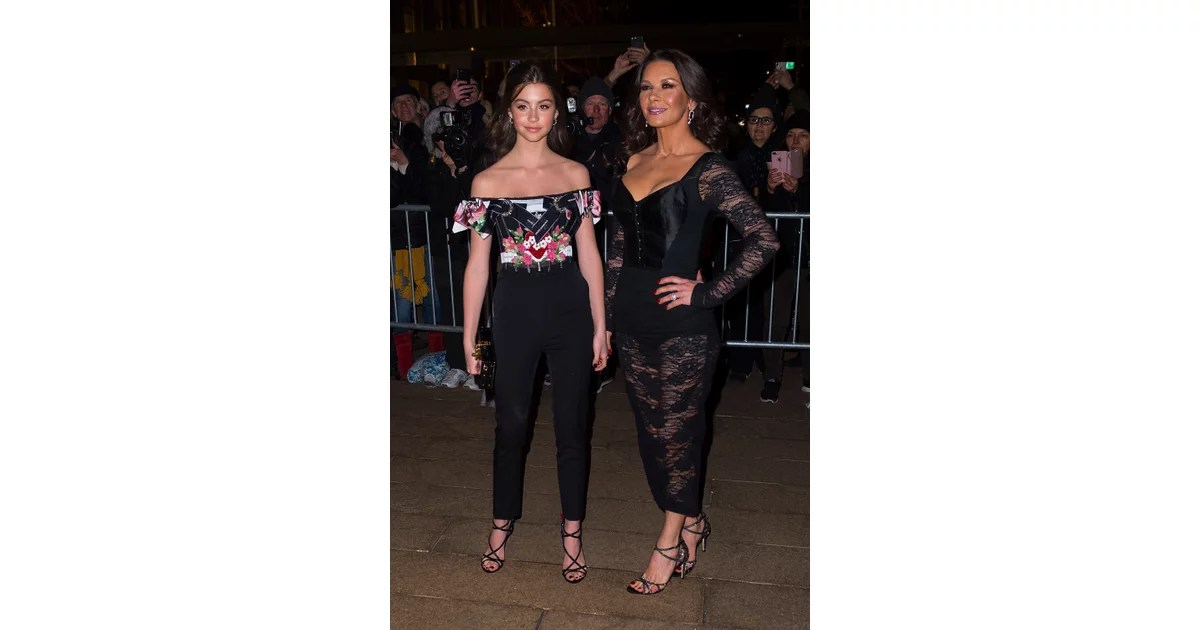Catherine Zeta Jones And Her Daughter At A Fashion Show