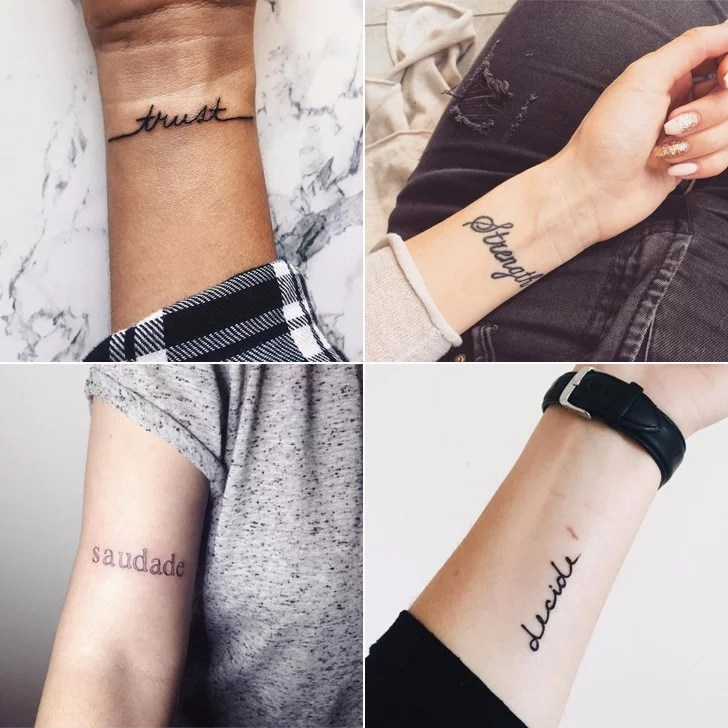 One Word Tattoos POPSUGAR Smart Living