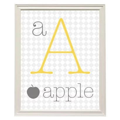 Printable Alphabet Wall Art ($3) Creative Art For Kids Rooms