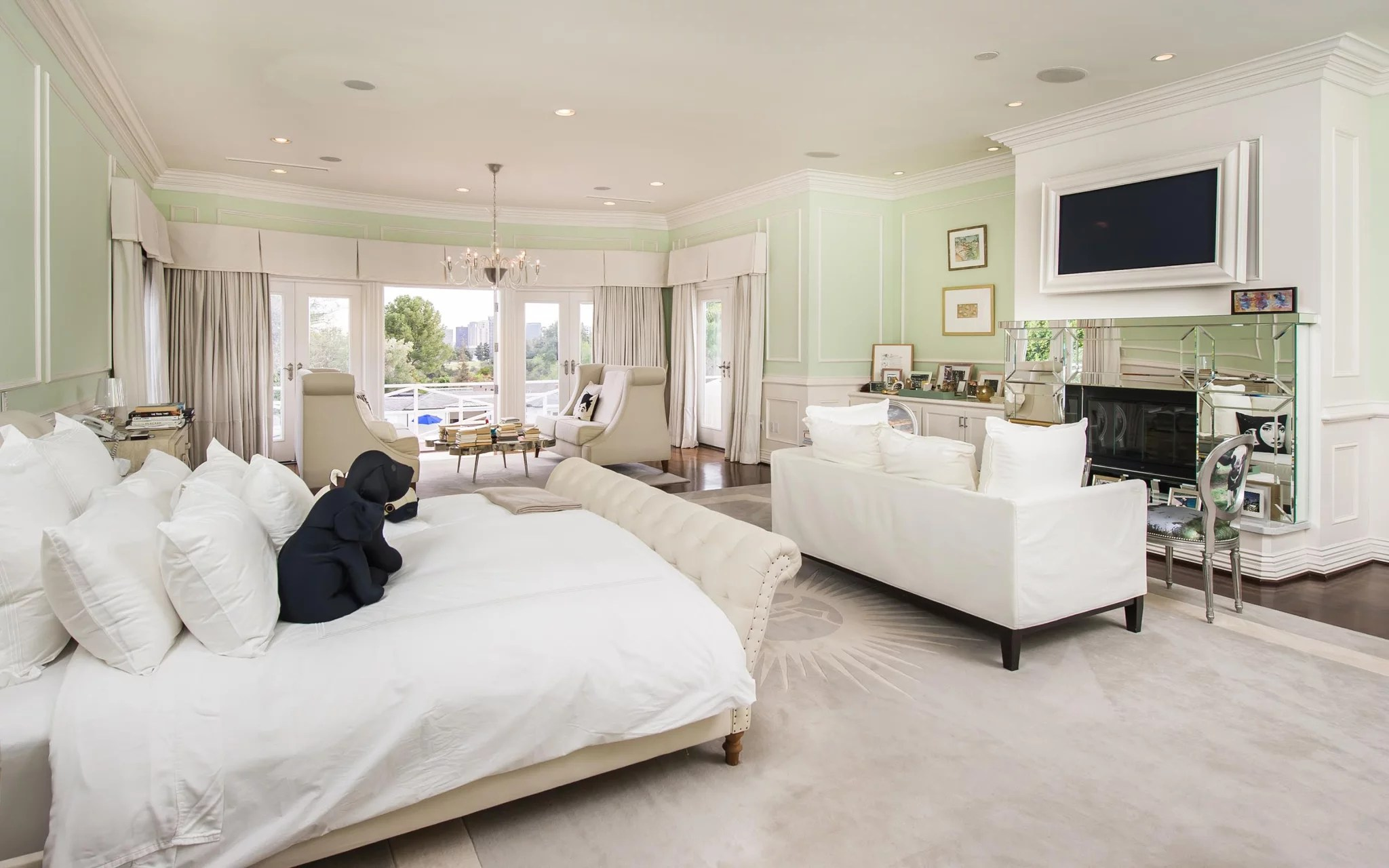 In Crisp White And Cool Pastel Green This Bedroom One Of 17 - Green Designer Bedroom