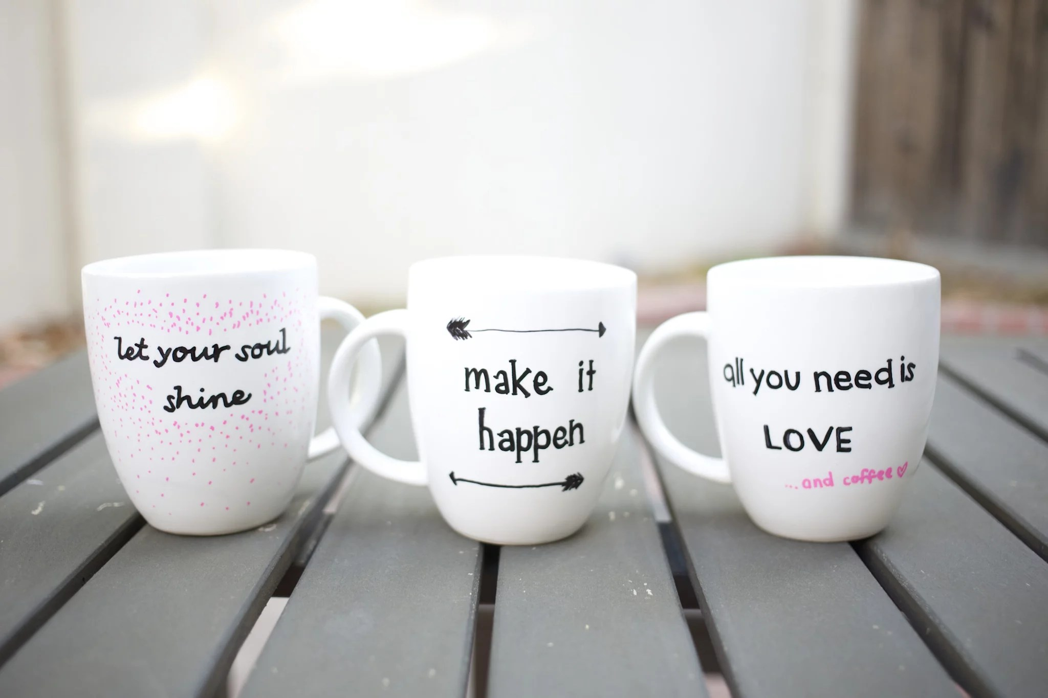 Teekanne Tee Kaufen Diy Quote Stenciled Sharpie Mugs | Popsugar Smart Living