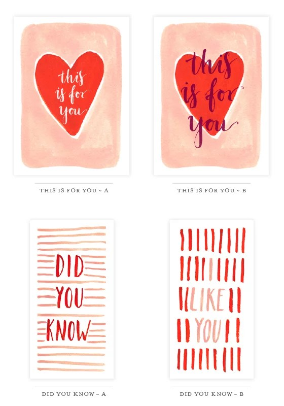 Valentine\u0027s Day Free Printable Cards POPSUGAR Smart Living