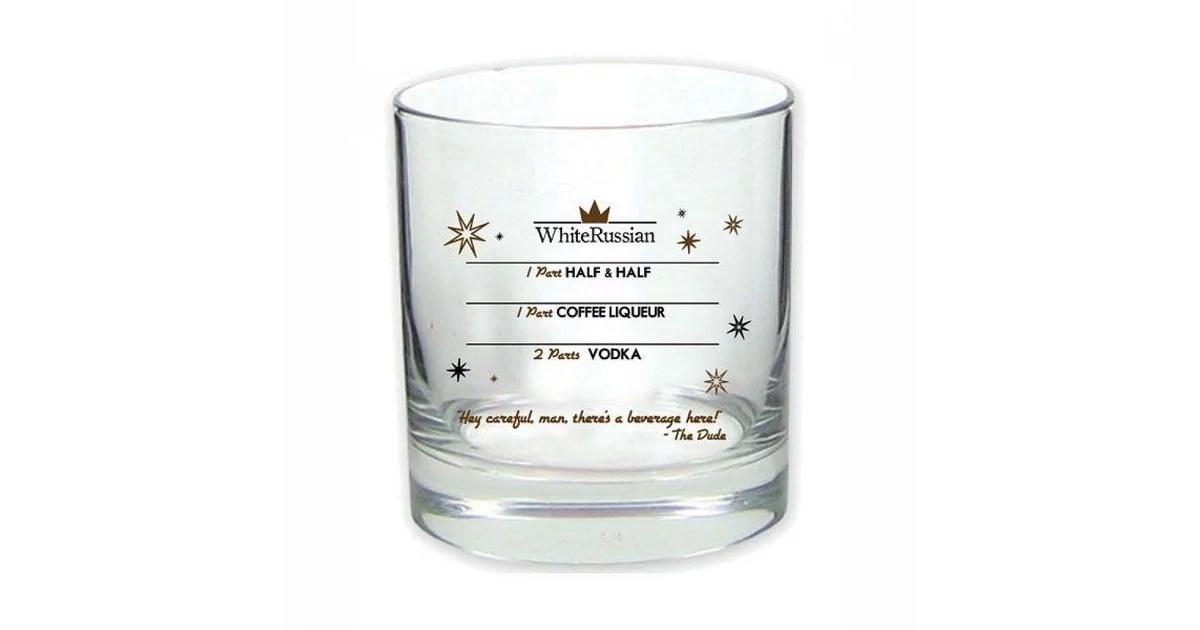 The Big Lebowski White Russian Glass 10 Gift Guide