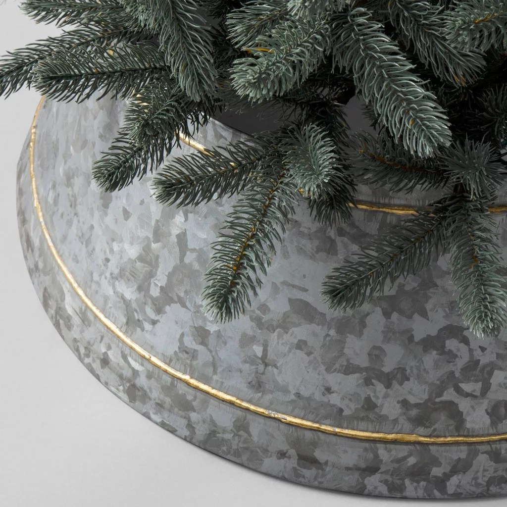 Christmas Tree Collar Galvanized Metal Tree Collar 35 Hearth And Hand