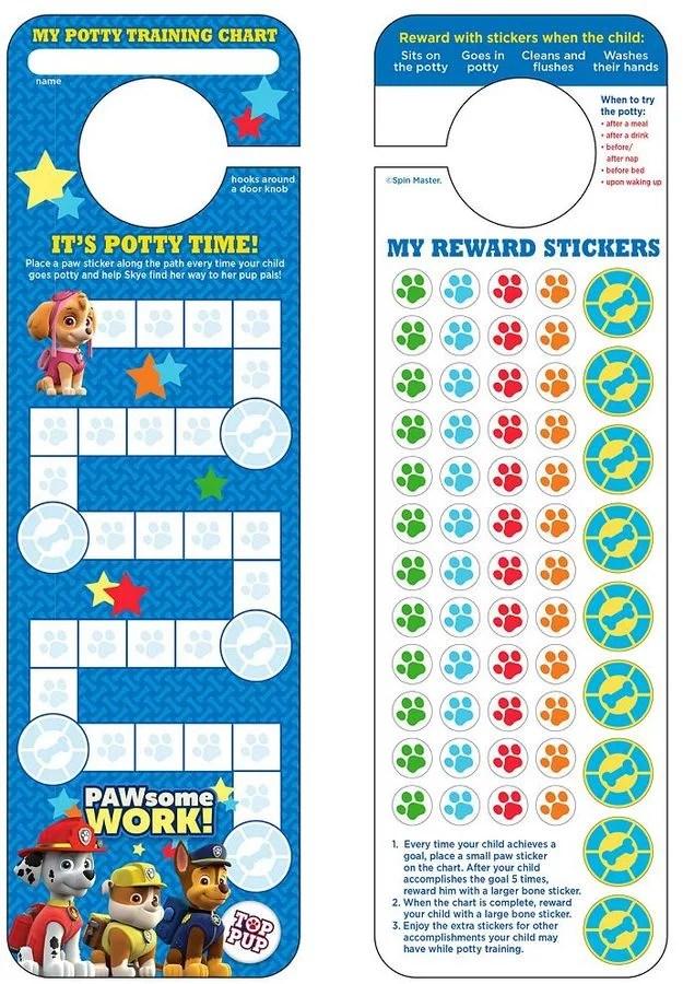 Paw Patrol Potty Training Chart  Stickers Paw Patrol Gifts For - potty training chart